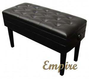 Empire Black Duet Adjustable Piano Bench