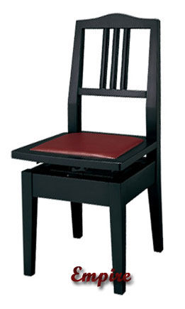 Genial Black Adjustable Piano Chair