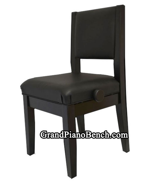 Merveilleux Adjustable Piano Chair With Padded Back
