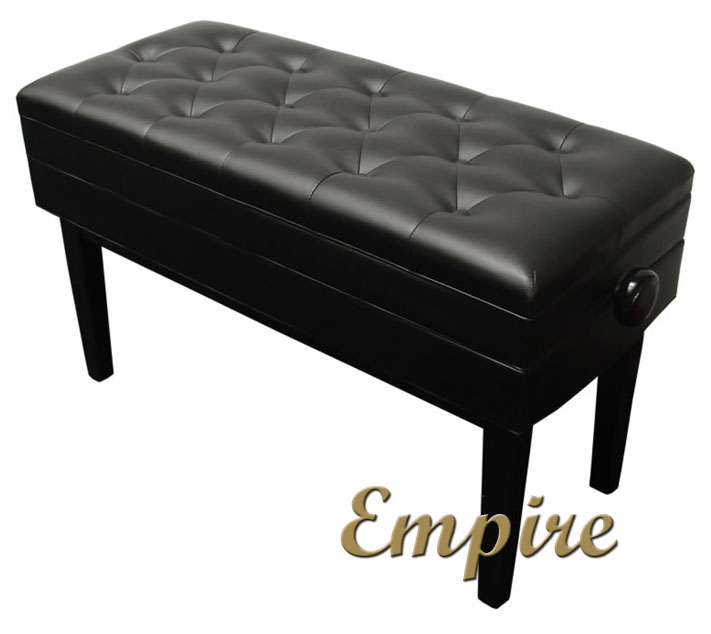 empire duet artist piano bench black high polish finish