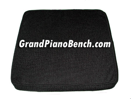 piano bench booster cushion black