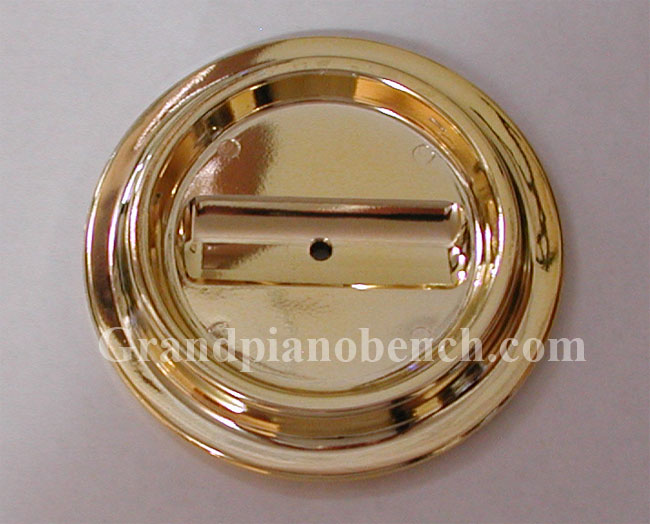 lucite brass piano caster cup