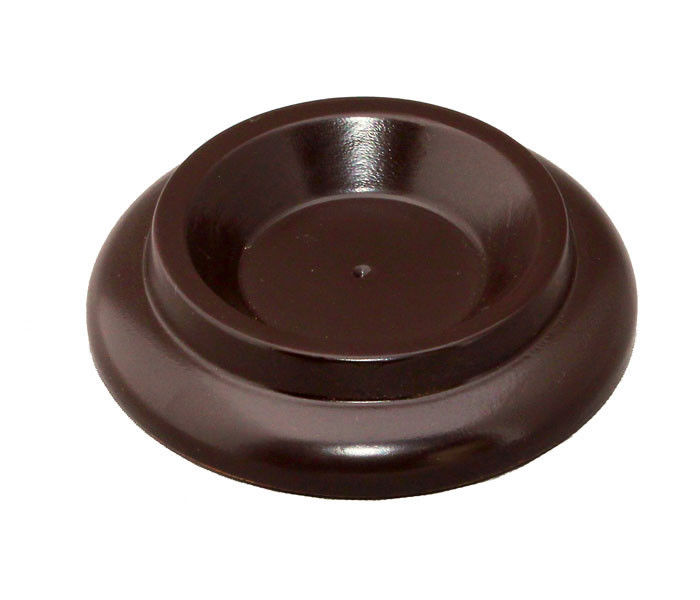 piano caster cups black wood