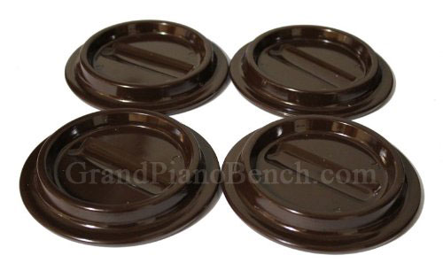 brown piano caster cup