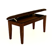 walnut duet piano bench padded top