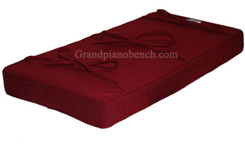 extra thick piano bench cushion blue