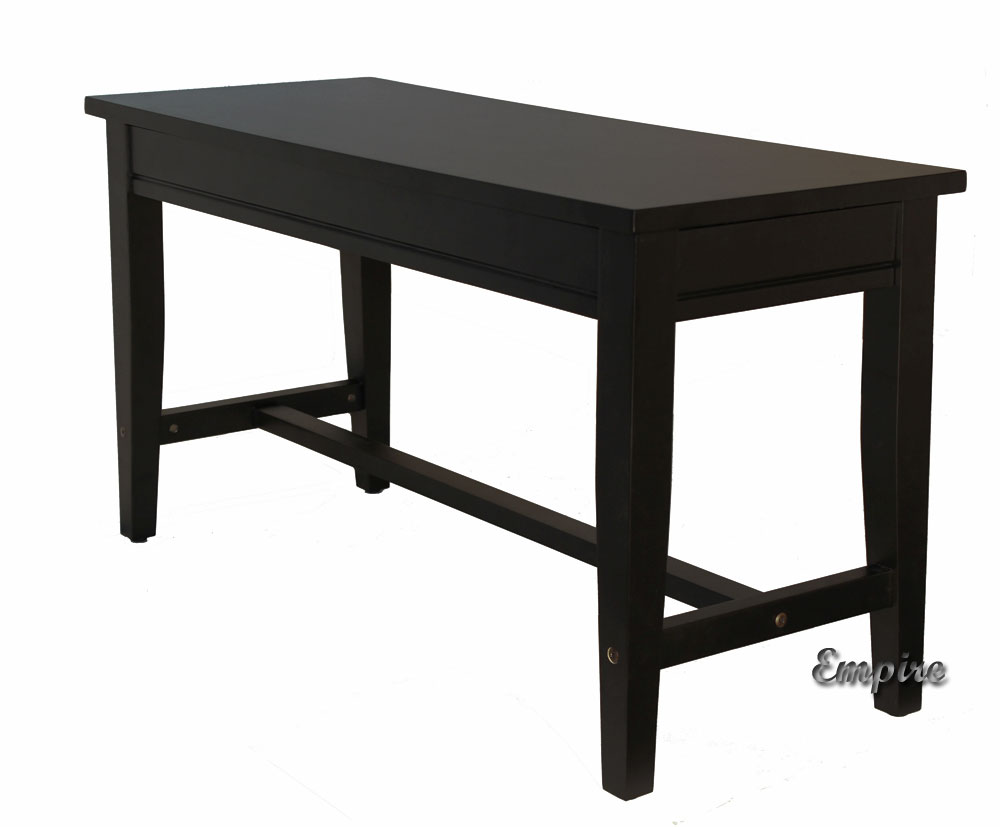 Duet Wood Top Piano Bench Black