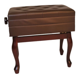 woodmaster adjustable piano artist bench walnut finish