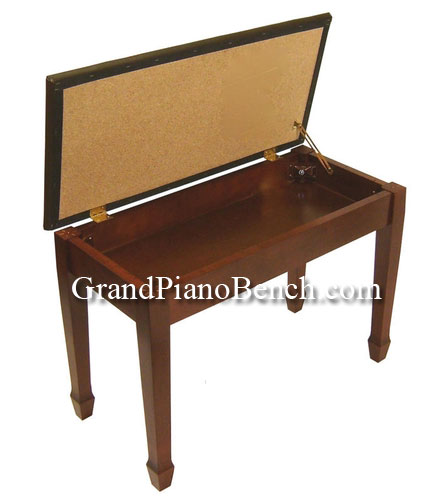 Jansen Piano Bench Upright Upholstered Top
