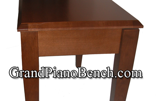 jansen upright piano bench wood top walnut finish