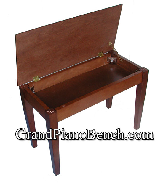 Jansen Piano Bench Upright Wood Top