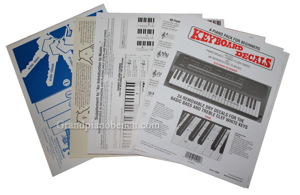 keyboard decal kit piano note