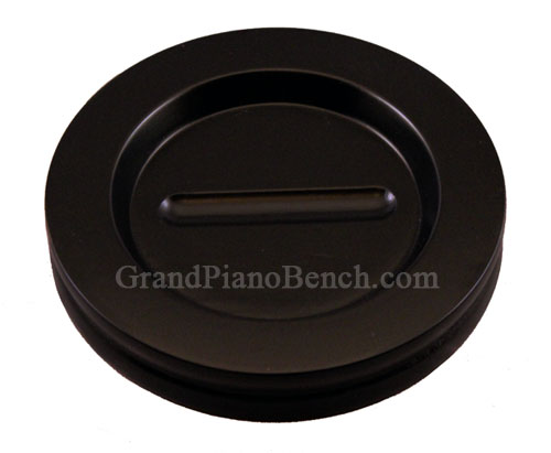 piano caster cups satin finish