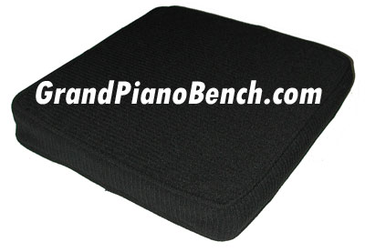 black piano bench booster cushion