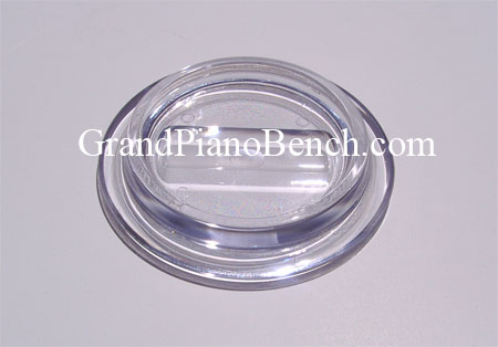 lucite clear piano caster cups glass like