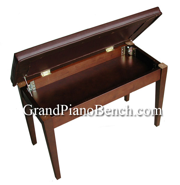 upright piano bench with music compartment