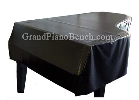 Black Vinyl Grand Piano Cover for Pianos From 4'10