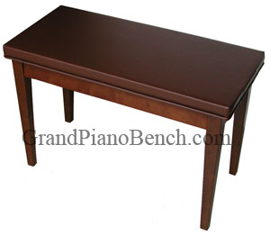 imported upholstered top upright piano bench great value walnut finish brown vinyl top